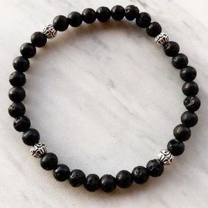 🔴SALE ! Men or women Lava rock bead bracelet